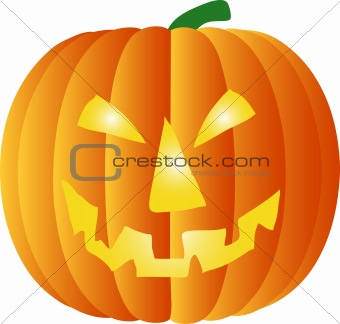 a illustration of a halloween pumpkin