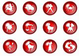 12 red zodiac web buttons