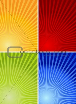 4 colorful backgrounds