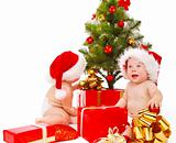 Babies looking for presents