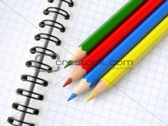 pencils and notepad