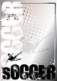Soccer Silver Poster Background 3