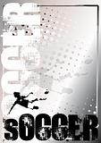 Soccer Silver Poster Background 5