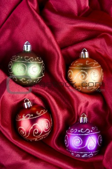 Christmas Baubles in ther Box