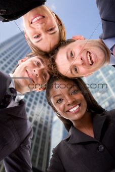 Business team - heads together