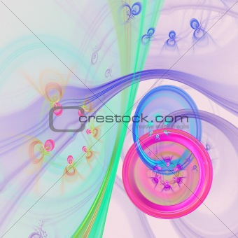Abstract elegance background. Purple - green palette.