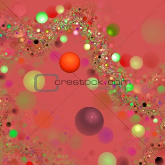 Abstract elegance background. Green - orange palette.