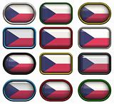 twelve buttons of the  Flag of Czech Repulic