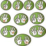 Hands counting from 1 to 10 Illustration