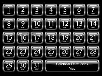 Calendar Icon Set - May