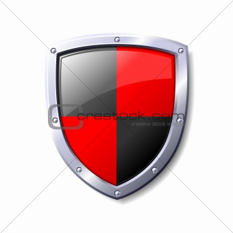 Red and Black Shield