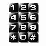 Telephone keypad