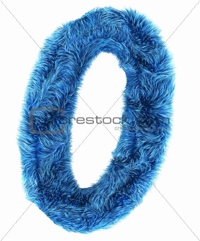 0 in blue fur