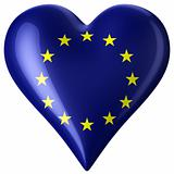 Heart with european flag