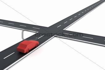 Car at intersection