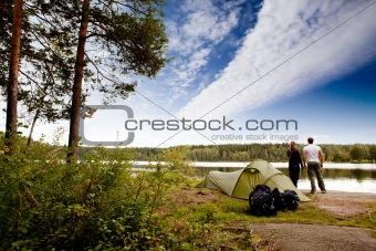 Camping by Lake