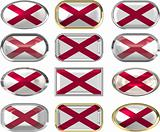 twelve buttons of the Flag of alabama