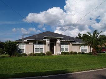 One Story Florida Stucco Home