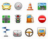 Transport and Road icon set