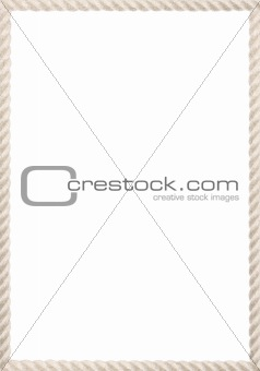 Frame made out of rope isolated on a white background