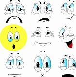 Vector set of emotions