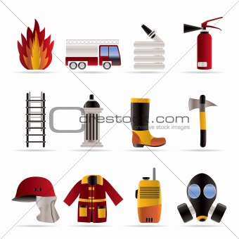fire-brigade and fireman equipment icon