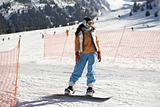 Girl snowboarder