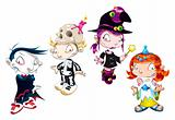 Set of Halloween Character