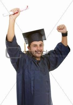 male graduate isolated