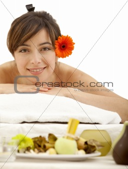 Woman at a spa