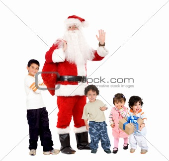 Santa and children