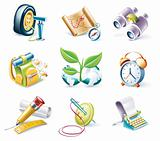 Vector cartoon style icon set. Part 10