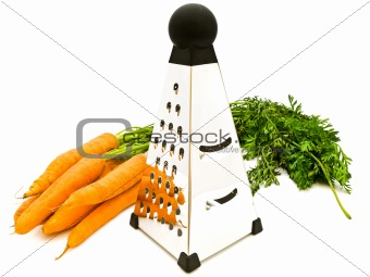 carrots and grater