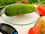 cucumber on the scales