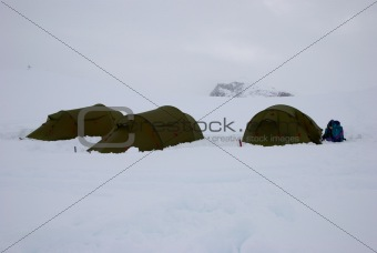 Arctic base camp