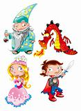 Medieval Age - Princess, Prince, Dragon, Magician