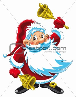 Santa Claus Playing Bells
