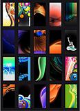 Abstract Background Card Collection Black version  - Set 2