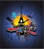 Urban Style Paris Disco Background