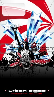 Usa Music Event Background