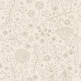 Floral vector seamless background.
