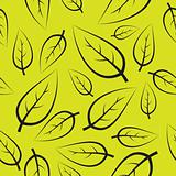 Fresh green leafs pattern