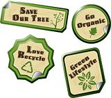 Set of Natural and Organic Labels-vector