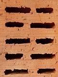 Macro red brick