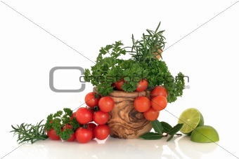 Tomatoes, Herbs and Limes