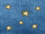 Stars on the dark blue cloth