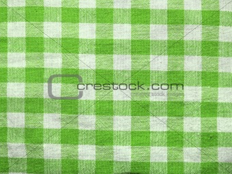 Green square cloth background