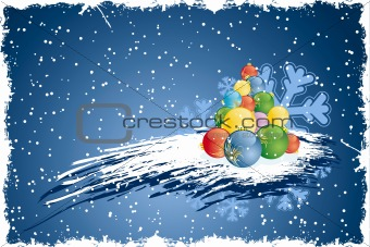 Abstract grunge Christmas tree