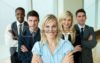 Business people headed by a woman