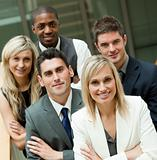 Businesspeople with a blond woman in the middle